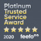 Feefo Platinum Trusted Service 2020